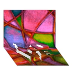 Imposant Abstract Red LOVE Bottom 3D Greeting Card (7x5)