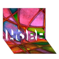 Imposant Abstract Red HOPE 3D Greeting Card (7x5)