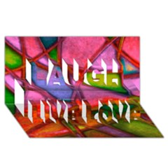 Imposant Abstract Red Laugh Live Love 3D Greeting Card (8x4)