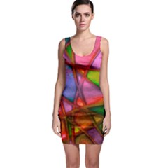 Imposant Abstract Red Bodycon Dresses