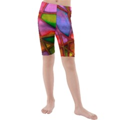 Imposant Abstract Red Kid s swimwear