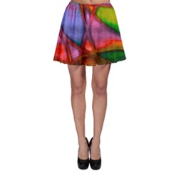 Imposant Abstract Red Skater Skirts