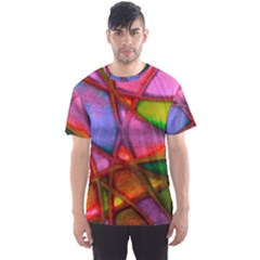 Imposant Abstract Red Men s Sport Mesh Tees