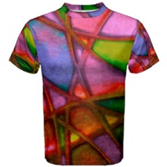 Imposant Abstract Red Men s Cotton Tees