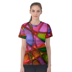 Imposant Abstract Red Women s Cotton Tees