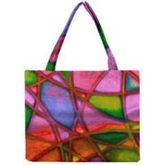 Imposant Abstract Red Tiny Tote Bags