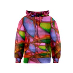 Imposant Abstract Red Kids Zipper Hoodies