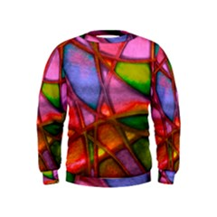 Imposant Abstract Red Boys  Sweatshirts