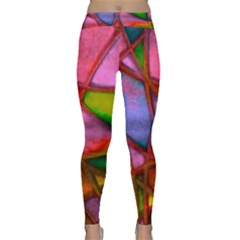 Imposant Abstract Red Yoga Leggings