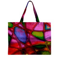 Imposant Abstract Red Zipper Tiny Tote Bags