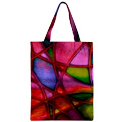 Imposant Abstract Red Zipper Classic Tote Bags