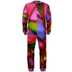 Imposant Abstract Red OnePiece Jumpsuit (Men)
