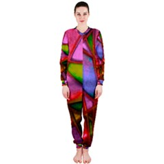 Imposant Abstract Red OnePiece Jumpsuit (Ladies)