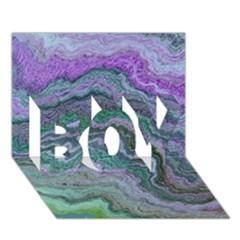Keep Calm Teal Boy 3d Greeting Card (7x5)