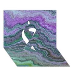Keep Calm Teal Ribbon 3D Greeting Card (7x5)