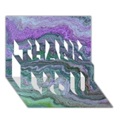 Keep Calm Teal THANK YOU 3D Greeting Card (7x5)