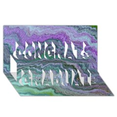 Keep Calm Teal Congrats Graduate 3D Greeting Card (8x4)