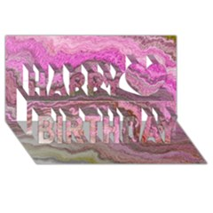 Keep Calm Pink Happy Birthday 3d Greeting Card (8x4)