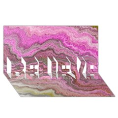 Keep Calm Pink Believe 3d Greeting Card (8x4)