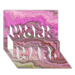 Keep Calm Pink Work Hard 3d Greeting Card (7x5)
