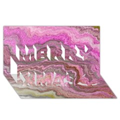 Keep Calm Pink Merry Xmas 3D Greeting Card (8x4)