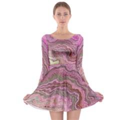 Keep Calm Pink Long Sleeve Skater Dress