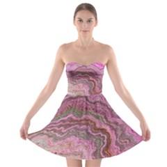 Keep Calm Pink Strapless Bra Top Dress
