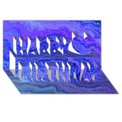 Keep Calm Blue Happy Birthday 3D Greeting Card (8x4)