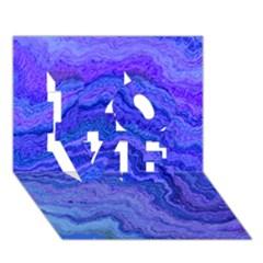 Keep Calm Blue LOVE 3D Greeting Card (7x5)