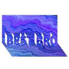 Keep Calm Blue BEST BRO 3D Greeting Card (8x4)