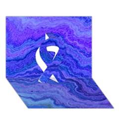 Keep Calm Blue Ribbon 3d Greeting Card (7x5)