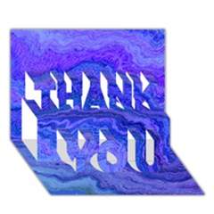 Keep Calm Blue Thank You 3d Greeting Card (7x5)