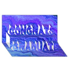 Keep Calm Blue Congrats Graduate 3d Greeting Card (8x4)