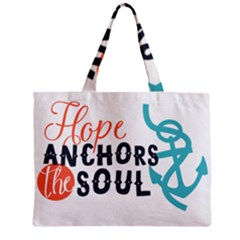 Hope Anchors The Soul Nautical Quote Zipper Tiny Tote Bags