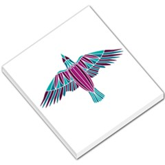 Stained Glass Bird Illustration  Small Memo Pads