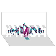 Stained Glass Bird Illustration  #1 MOM 3D Greeting Cards (8x4)