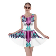 Stained Glass Bird Illustration  Skater Dresses