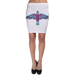Stained Glass Bird Illustration  Bodycon Skirts