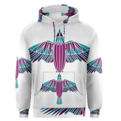 Stained Glass Bird Illustration  Men s Pullover Hoodies