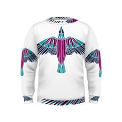 Stained Glass Bird Illustration  Boys  Sweatshirts