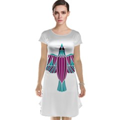 Stained Glass Bird Illustration  Cap Sleeve Nightdresses