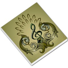 Decorative Clef With Damask In Soft Green Small Memo Pads