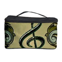 Decorative Clef With Damask In Soft Green Cosmetic Storage Cases