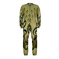 Decorative Clef With Damask In Soft Green Onepiece Jumpsuit (kids)