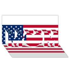 Usa1 Mom 3d Greeting Card (8x4)