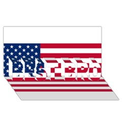 Usa1 Best Bro 3d Greeting Card (8x4)