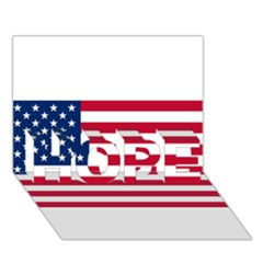 Usa1 Hope 3d Greeting Card (7x5)