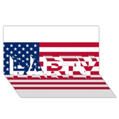Usa1 PARTY 3D Greeting Card (8x4)