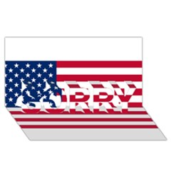Usa1 Sorry 3d Greeting Card (8x4)