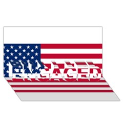 Usa1 ENGAGED 3D Greeting Card (8x4)